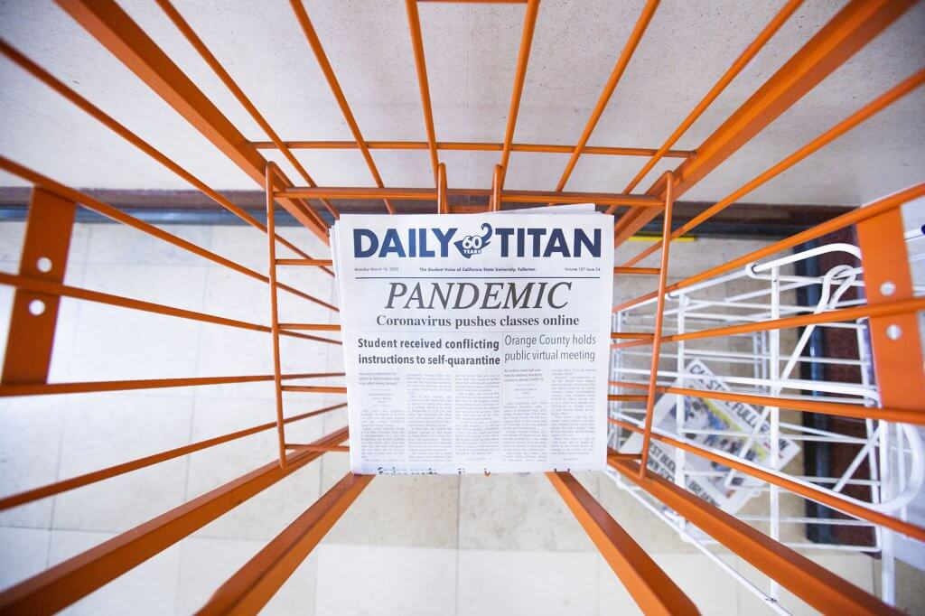 Daily Titan shares the news of the Corona virus pandemic.